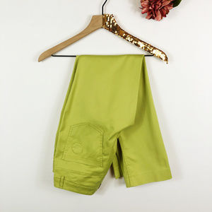 [AKRIS PUNTO] Green Straight Leg Casual Pants